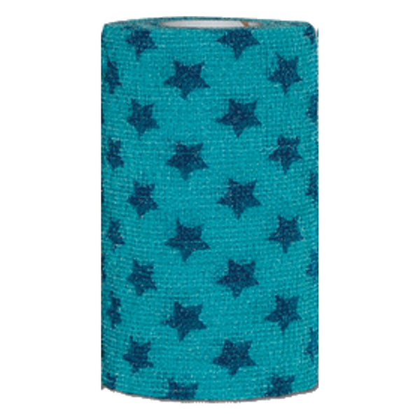 "Andover Powerflex 4""x15' teal/blue stars"