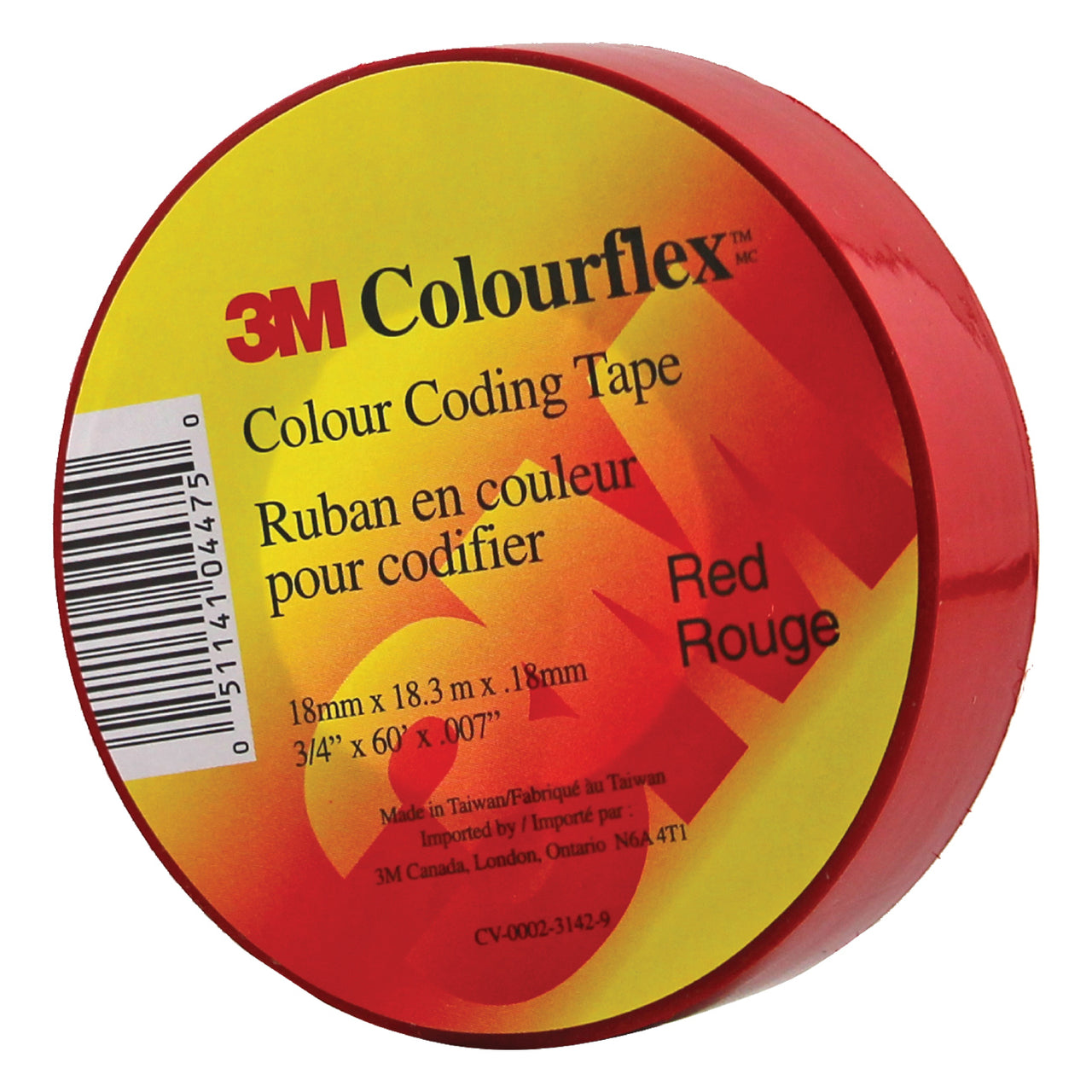3M Colourflex Coding Tape 3/4X60 (Red) - Wound Dressing 3M - Canada