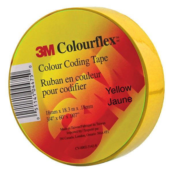 3M Colourflex Coding Tape 3/4X60 (Yellow) - Wound Dressing 3M - Canada