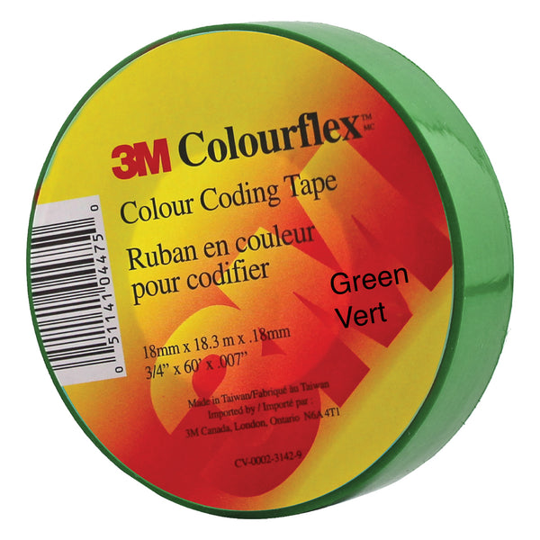 3M Colourflex Coding Tape 3/4X60 (Green) - Wound Dressing 3M - Canada