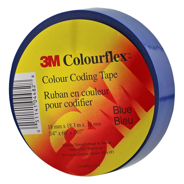 3M Colourflex Coding Tape 3/4X60 (Blue) - Wound Dressing 3M - Canada