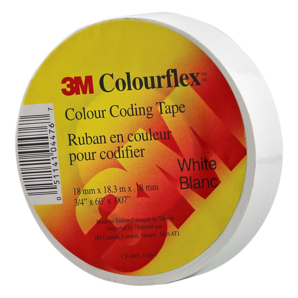 3M Colourflex Coding Tape 3/4X60 (White) - Wound Dressing 3M - Canada