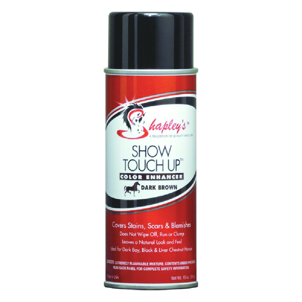 Shapleys Show Touch Up 295Ml Aerosol Spray Dark Brown - Equine Care Shapleys - Canada