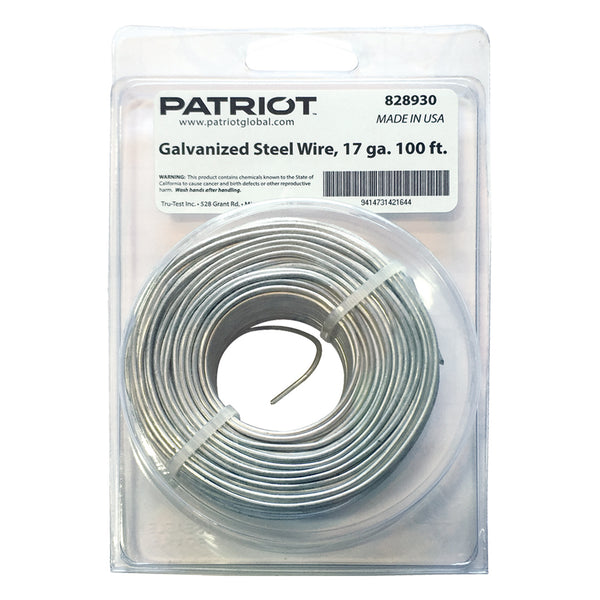 Patriot 17 Gauge Steel Wire 100 - Fencing Patriot - Canada