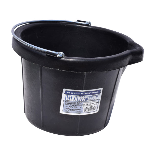 Tuff Stuff Rubber Round Bucket 10 Qts - Buckets Pails Feeders Scoops Tubs Bottles Tuff Stuff - Canada