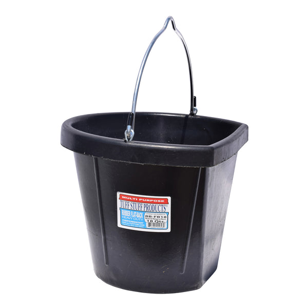 Tuff Stuff Rubber Flat Back Bucket 12 Qts - Buckets Pails Feeders Scoops Tubs Bottles Tuff Stuff - Canada