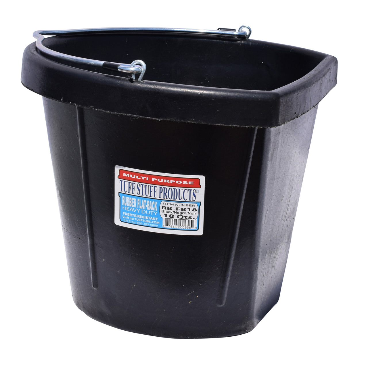 Tuff Stuff Rubber Flat Back Bucket 18 Qts - Buckets Pails Feeders Scoops Tubs Bottles Tuff Stuff - Canada