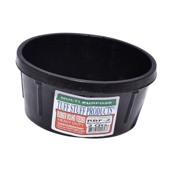 Tuff Stuff Rubber Round Feeder 2 Qts - Buckets Pails Feeders Scoops Tubs Bottles Tuff Stuff - Canada