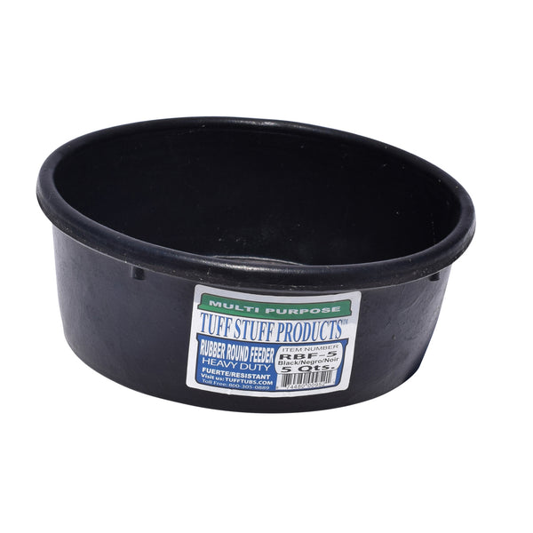 Tuff Stuff Rubber Round Feeder 5 Qts - Buckets Pails Feeders Scoops Tubs Bottles Tuff Stuff - Canada