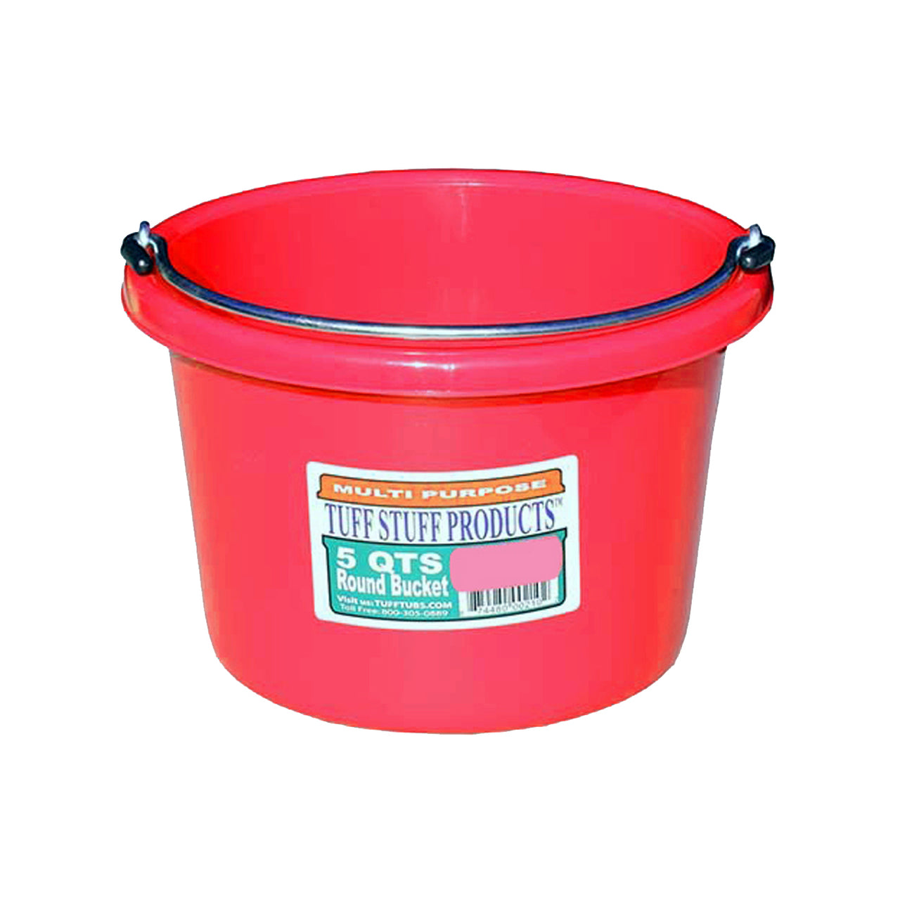 Tuff Stuff Small Round Bucket 5 Qts (Red) - Buckets Pails Feeders Scoops Tubs Bottles Tuff Stuff - Canada