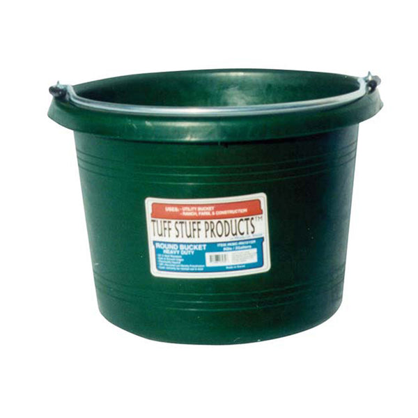 Tuff Stuff Round Bucket 8 Qts - Green - Buckets Pails Feeders Scoops Tubs Bottles Tuff Stuff - Canada