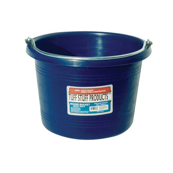Tuff Stuff Round Bucket 8 Qts - Blue - Buckets Pails Feeders Scoops Tubs Bottles Tuff Stuff - Canada
