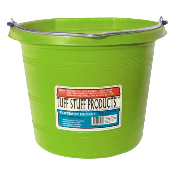 Tuff Stuff Flat Back Pail 20 Qts (Lima) - Buckets Pails Feeders Scoops Tubs Bottles Tuff Stuff - Canada
