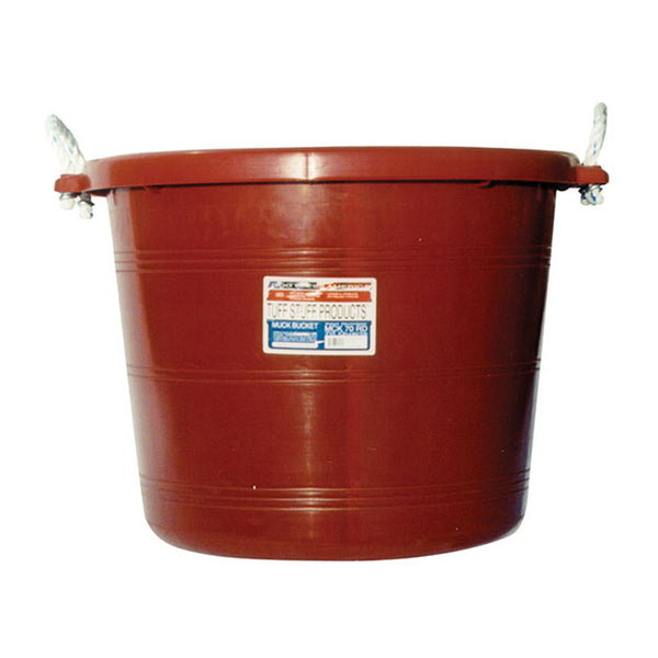 Tuff Stuff Muck Bucket 70 Qts - Red - Buckets Pails Feeders Scoops Tubs Bottles Tuff Stuff - Canada