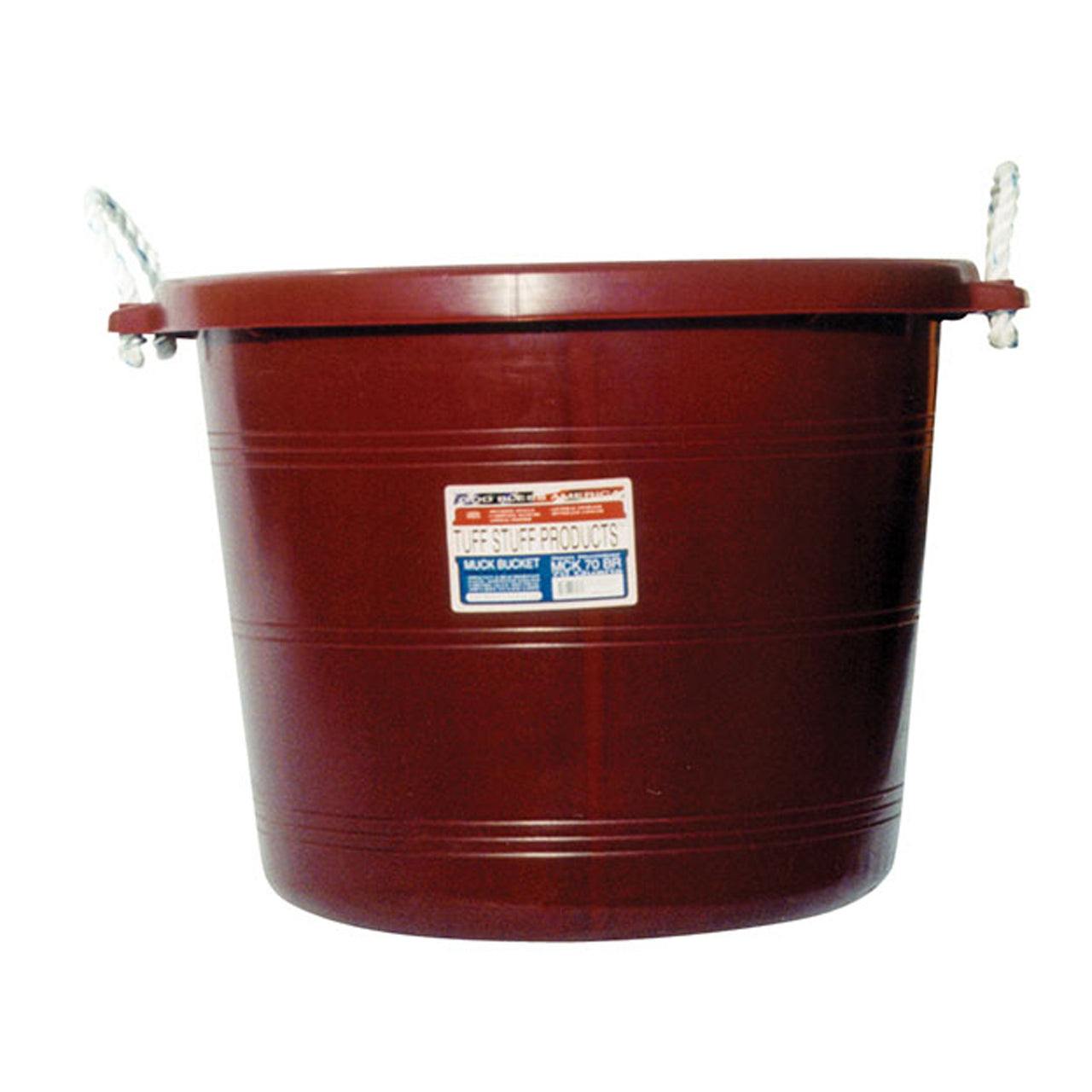 Tuff Stuff Muck Bucket 70 Qts - Burgundy - Buckets Pails Feeders Scoops Tubs Bottles Tuff Stuff - Canada