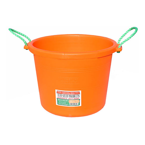 Tuff Stuff Muck Bucket 70 Qts - Orange - Buckets Pails Feeders Scoops Tubs Bottles Tuff Stuff - Canada