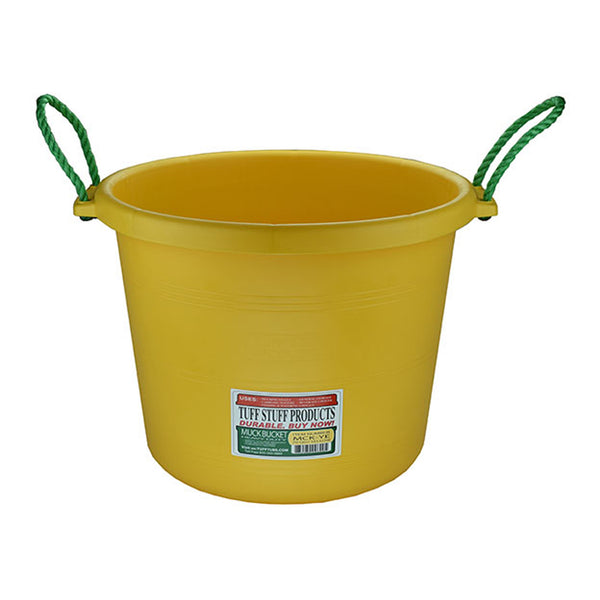 Tuff Stuff Muck Bucket 70 Qts - Yellow - Buckets Pails Feeders Scoops Tubs Bottles Tuff Stuff - Canada