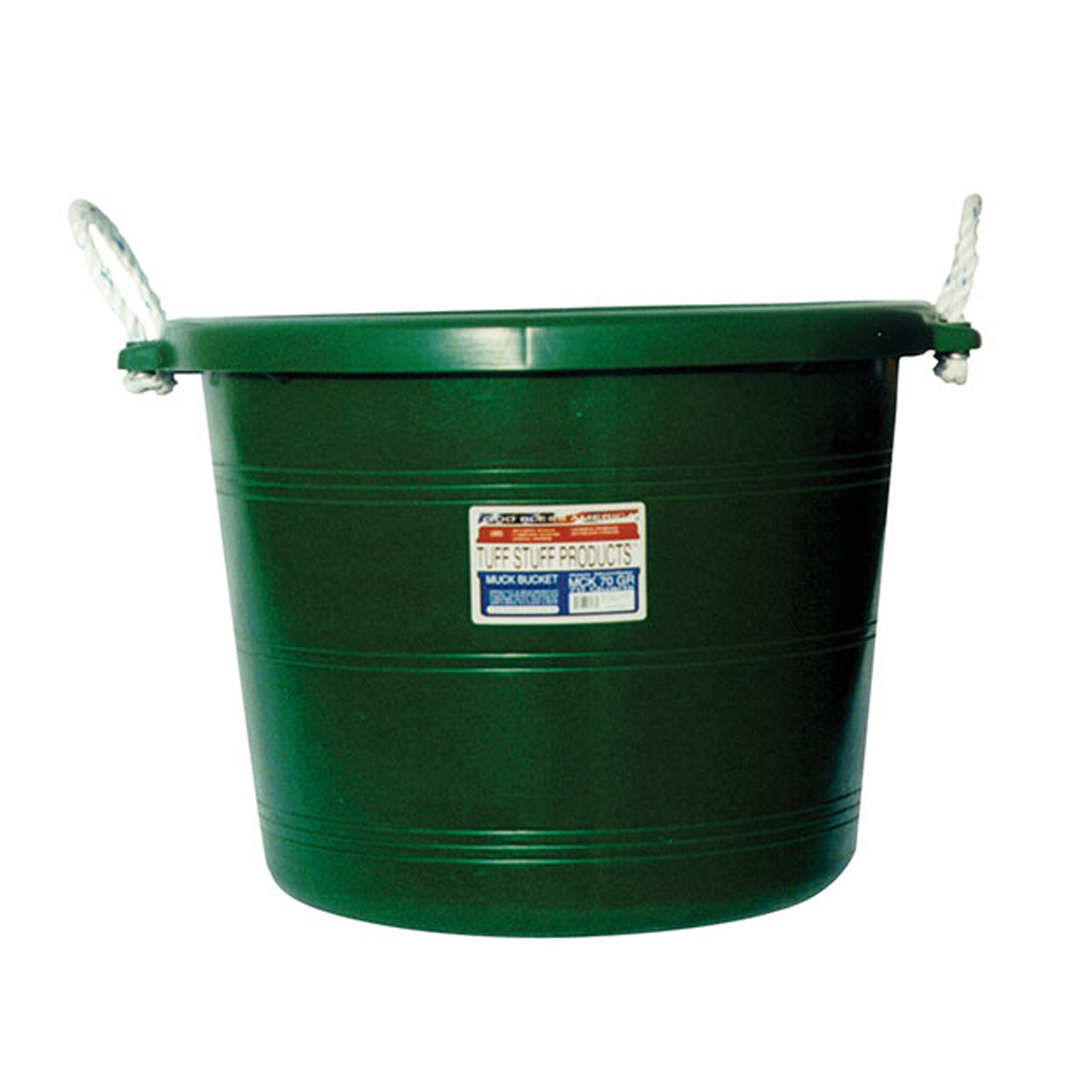 Tuff Stuff Muck Bucket 70 Qts - Green - Buckets Pails Feeders Scoops Tubs Bottles Tuff Stuff - Canada