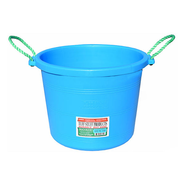 Tuff Stuff Muck Bucket 70 Qts - Sky Blue - Buckets Pails Feeders Scoops Tubs Bottles Tuff Stuff - Canada