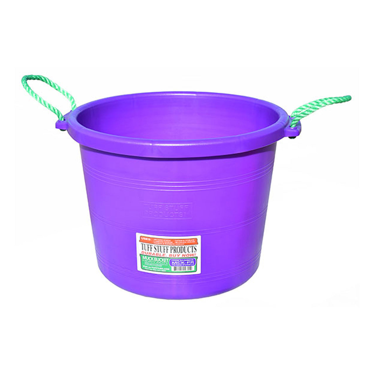 Tuff Stuff Muck Bucket 70 Qts - Purple - Buckets Pails Feeders Scoops Tubs Bottles Tuff Stuff - Canada