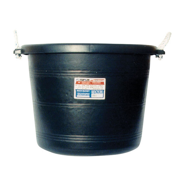 Tuff Stuff Muck Bucket 70 Qts - Black - Buckets Pails Feeders Scoops Tubs Bottles Tuff Stuff - Canada