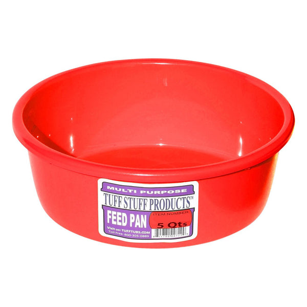 Tuff Stuff Feed Pan 5 Qts (Red) - Buckets Pails Feeders Scoops Tubs Bottles Tuff Stuff - Canada