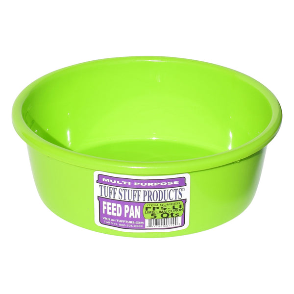 Tuff Stuff Feed Pan 5 Qts (Green) - Buckets Pails Feeders Scoops Tubs Bottles Tuff Stuff - Canada