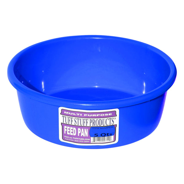 Tuff Stuff Feed Pan 5 Qts (Blue) - Buckets Pails Feeders Scoops Tubs Bottles Tuff Stuff - Canada