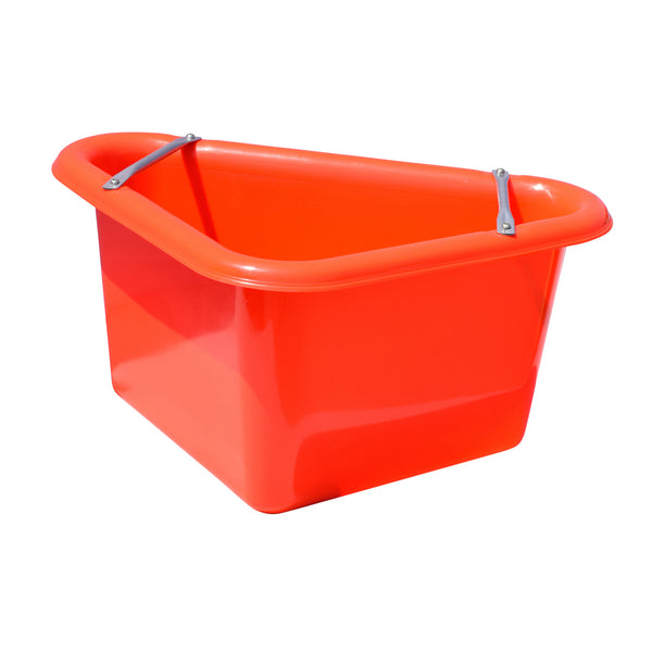 Tuff Stuff Corner Feeder 12 Gallon - Red - Buckets Pails Feeders Scoops Tubs Bottles Tuff Stuff - Canada