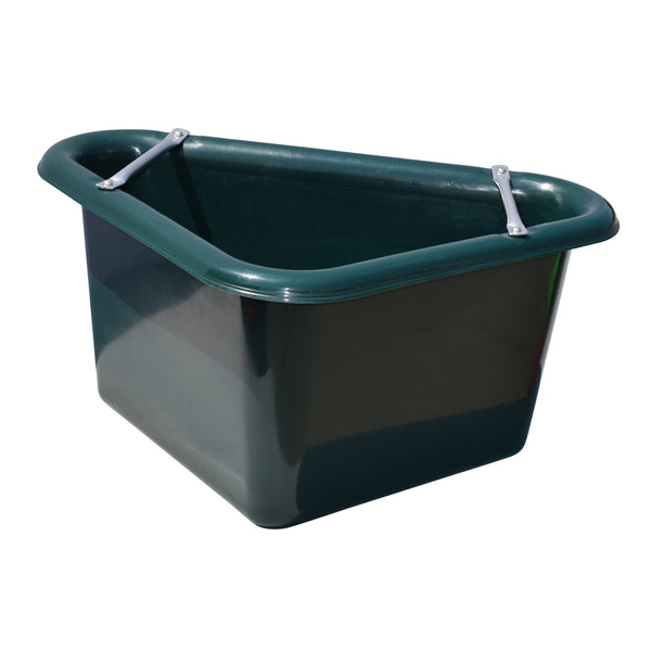 Tuff Stuff Corner Feeder 12 Gallon - Forest Green - Buckets Pails Feeders Scoops Tubs Bottles Tuff Stuff - Canada