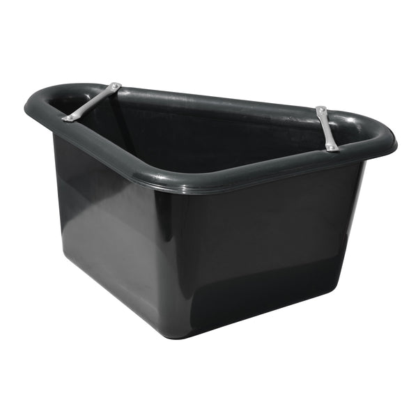 Tuff Stuff Corner Feeder 12 Gallon - Black - Buckets Pails Feeders Scoops Tubs Bottles Tuff Stuff - Canada