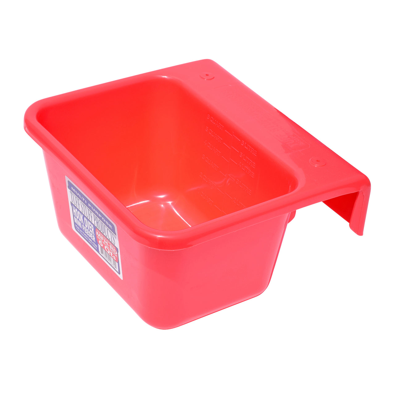 Tuff Stuff Mini Hook Over Feeder - Red - Buckets Pails Feeders Scoops Tubs Bottles Tuff Stuff - Canada