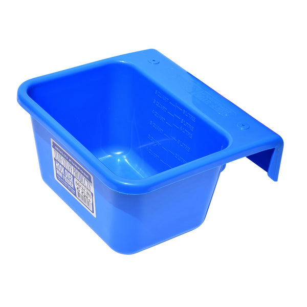 Tuff Stuff Mini Hook Over Feeder - Blue - Buckets Pails Feeders Scoops Tubs Bottles Tuff Stuff - Canada