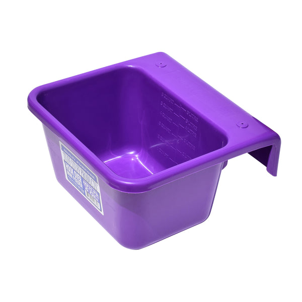 Tuff Stuff Mini Hook Over Feeder - Purple - Buckets Pails Feeders Scoops Tubs Bottles Tuff Stuff - Canada