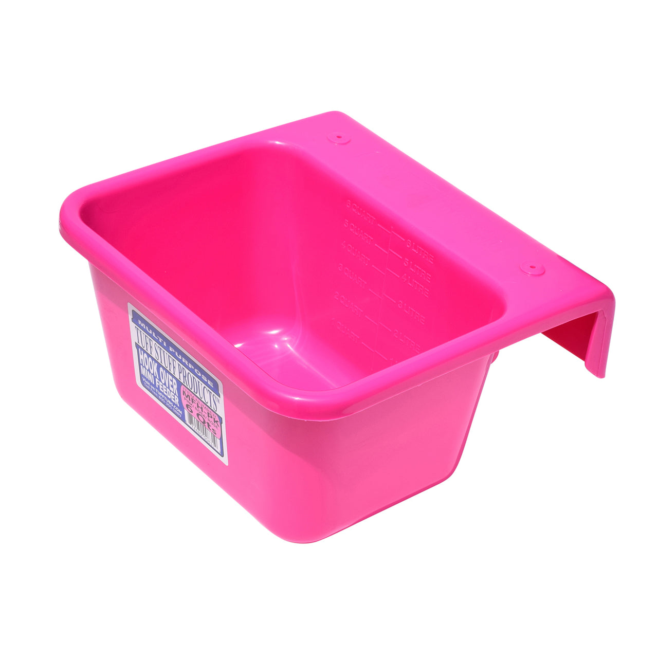 Tuff Stuff Mini Hook Over Feeder - Pink - Buckets Pails Feeders Scoops Tubs Bottles Tuff Stuff - Canada