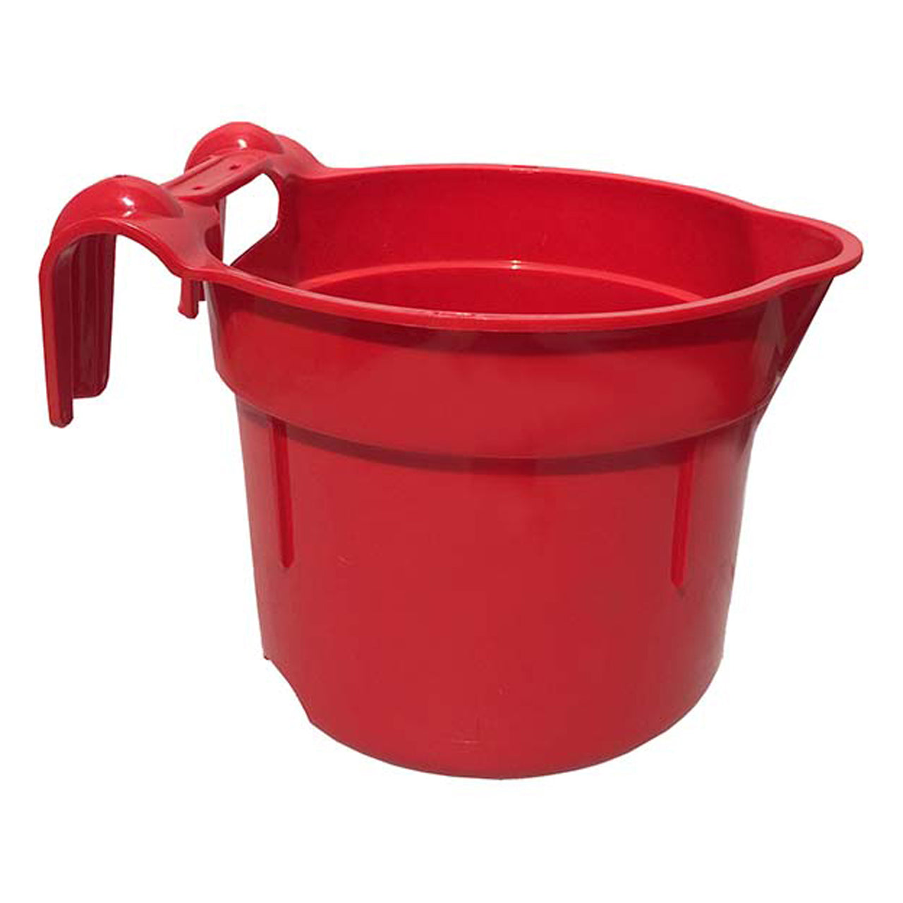 Tuff Stuff Round Fence Feeder 10 Qts - Red - Buckets Pails Feeders Scoops Tubs Bottles Tuff Stuff - Canada