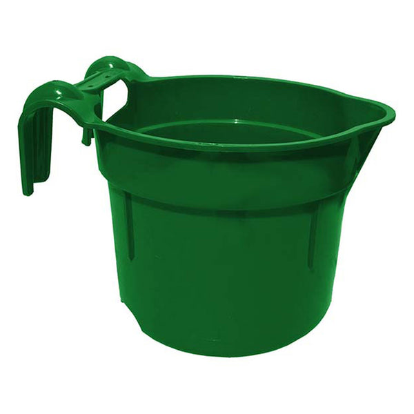 Tuff Stuff Round Fence Feeder 10 Qts - Green - Buckets Pails Feeders Scoops Tubs Bottles Tuff Stuff - Canada
