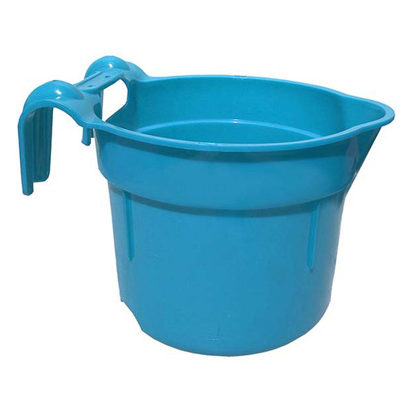 Tuff Stuff Round Fence Feeder 10 Qts - Blue - Buckets Pails Feeders Scoops Tubs Bottles Tuff Stuff - Canada
