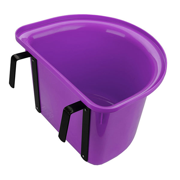 Tuff Stuff 1/2 Round Fence Feeder W/ Metal Hook & Handle 13 Qts - Purple - Buckets Pails Feeders Scoops Tubs Bottles Tuff Stuff - Canada