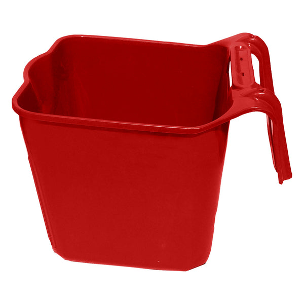 Tuff Stuff Square Fence Feeder 14 Qts (Red) - Buckets Pails Feeders Scoops Tubs Bottles Tuff Stuff - Canada