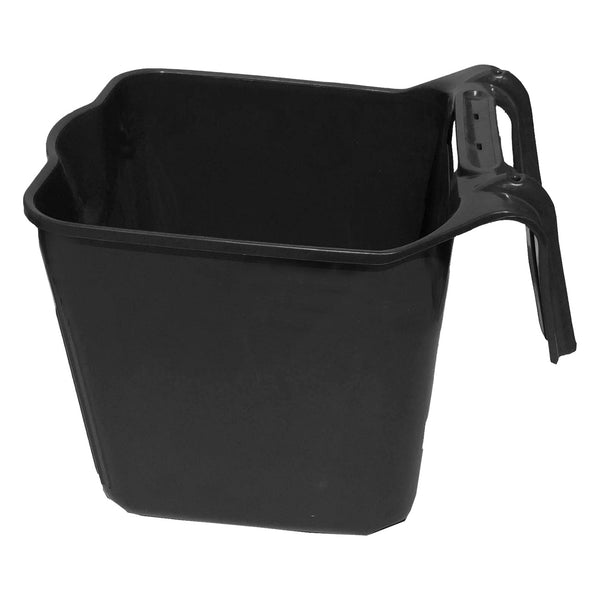 Tuff Stuff Square Fence Feeder 14 Qts (Black) - Buckets Pails Feeders Scoops Tubs Bottles Tuff Stuff - Canada