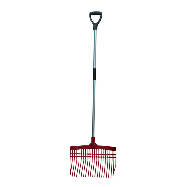 Tuff Stuff super rake w/ aluminum handle - red