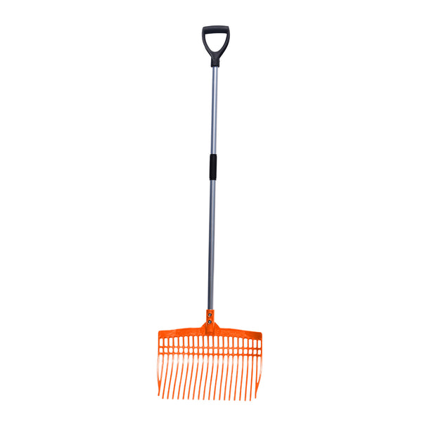 Tuff Stuff super rake w/ aluminum handle - orange
