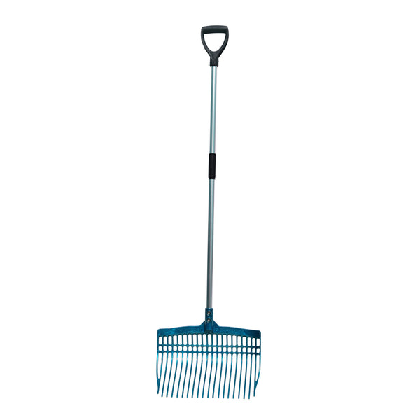 Tuff Stuff super rake w/ aluminum handle - aqua