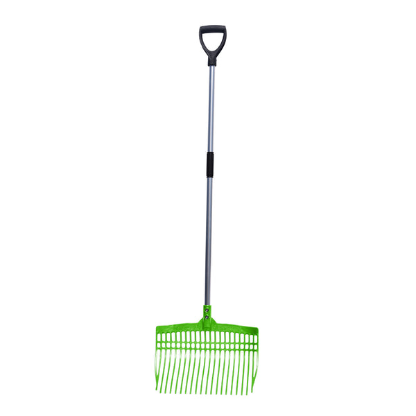 Tuff Stuff super rake w/ aluminum handle - lime green