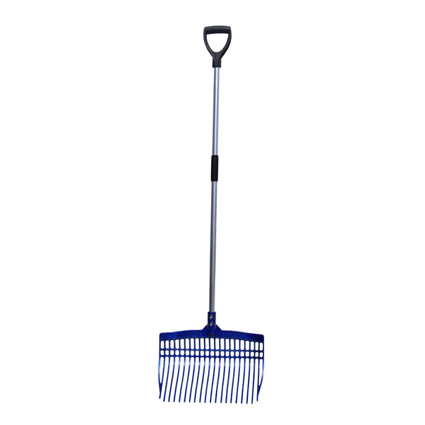 Tuff Stuff super rake w/ aluminum handle - blue