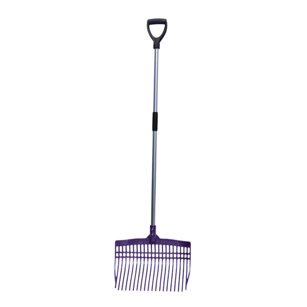 Tuff Stuff super rake w/ aluminum handle - purple