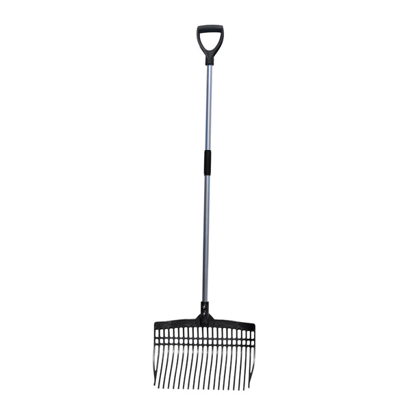 Tuff Stuff super rake w/ aluminum handle - black