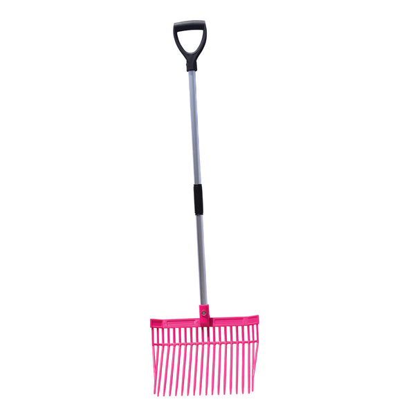 Tuff Stuff HD square barn fork (Pink)