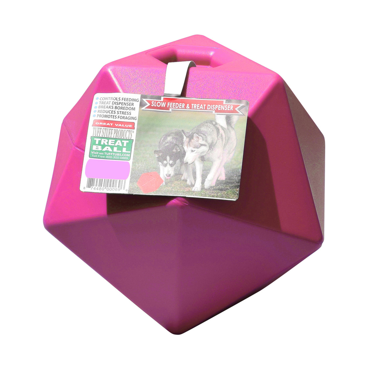 Tuff Stuff Horse Treat Ball - Pink - Plastic Horse Treat Ball Tuff Stuff - Canada